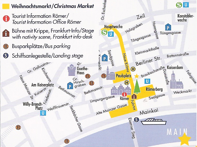 Plano de la zona ocupada por el mercado de navideño Frankfurter Weihnachtsmarkt, el mercado de Navidad más grande de Alemania - borraborra 1 - Frankfurter Weihnachtsmarkt, el mercado de Navidad más grande de Alemania