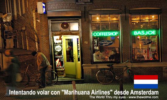 """intentando volar con """"marihuana airlines"""" desde amsterdam - coffee shops amsterdam - Intentando volar con """"Marihuana Airlines"""" desde Amsterdam"""