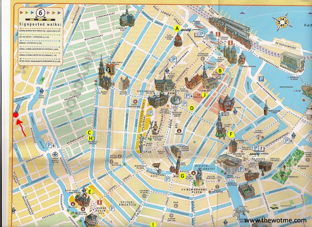 """Mi ruta de coffeeshops de Amsterdam desde los que intenté volar!!!  intentando volar con """"marihuana airlines"""" desde amsterdam - mapa amsterdam - Intentando volar con """"Marihuana Airlines"""" desde Amsterdam"""