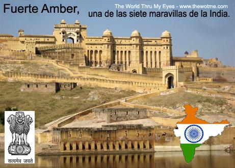 fuerte amber, una de las siete maravillas de la india - fuerte amber jaipur - Fuerte Amber, una de las siete maravillas de la India