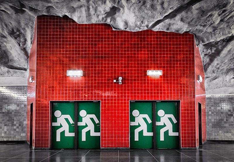 Estaciones del Metro de Estocolmo en Suecia metro de estocolmo - metro de estocolmo suecia 800x553 - Arte en el metro de Estocolmo