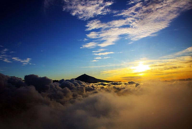 Sunset con el Teide de Tenerife al fondo