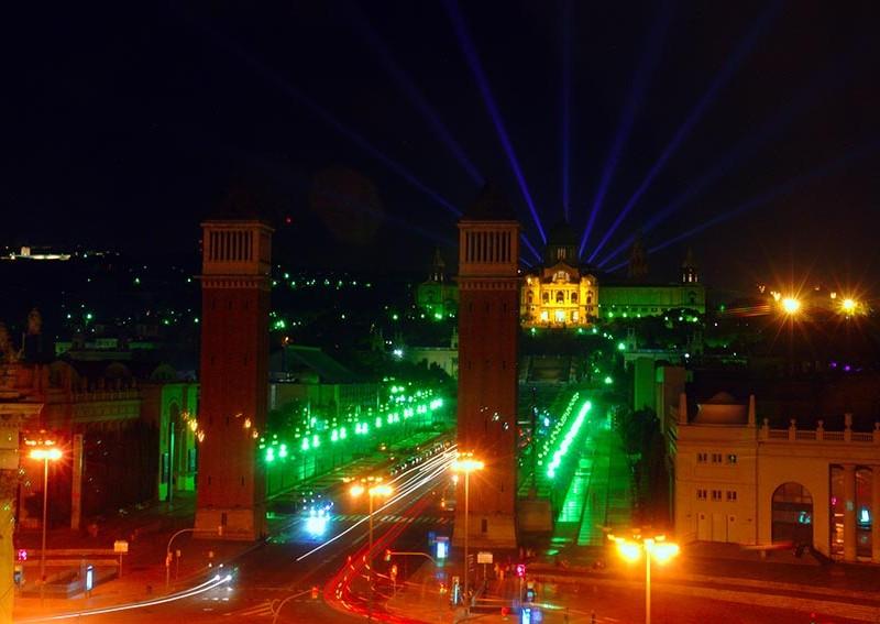 Espectáculo de luces de barcelona