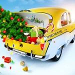 viajar en coche en navidad