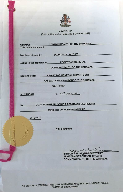 casarse en el extranjero: apostilla de la haya casarse en el extranjero - docs1 - Casarse en el extranjero: Nuestra boda en Bahamas
