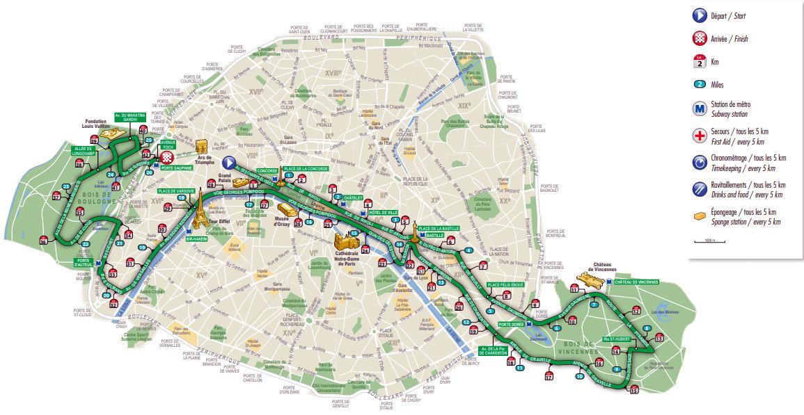 Maratón de París - Paris Marathon maratón de parís - perfil maraton recorrido - Maratón de París: análisis, recorrido, entrenamiento y recomendaciones de viaje