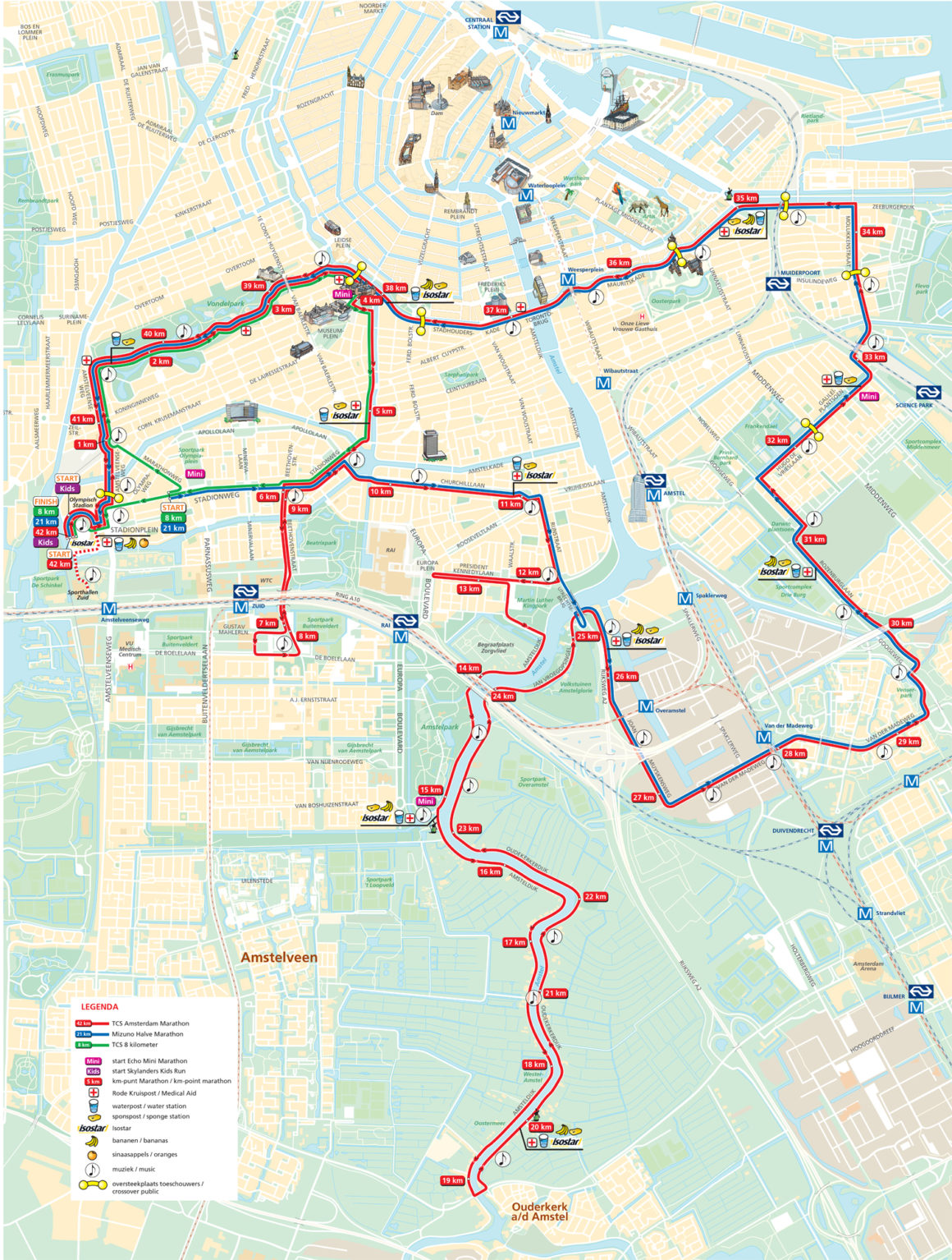 ruta y perfil del maratón de amsterdam maratón de amsterdam - ruta y perfil del maraton de amsterdam 1160x1534 - Correr el Maratón de Amsterdam: análisis, recorrido, entrenamiento y recomendaciones de viaje