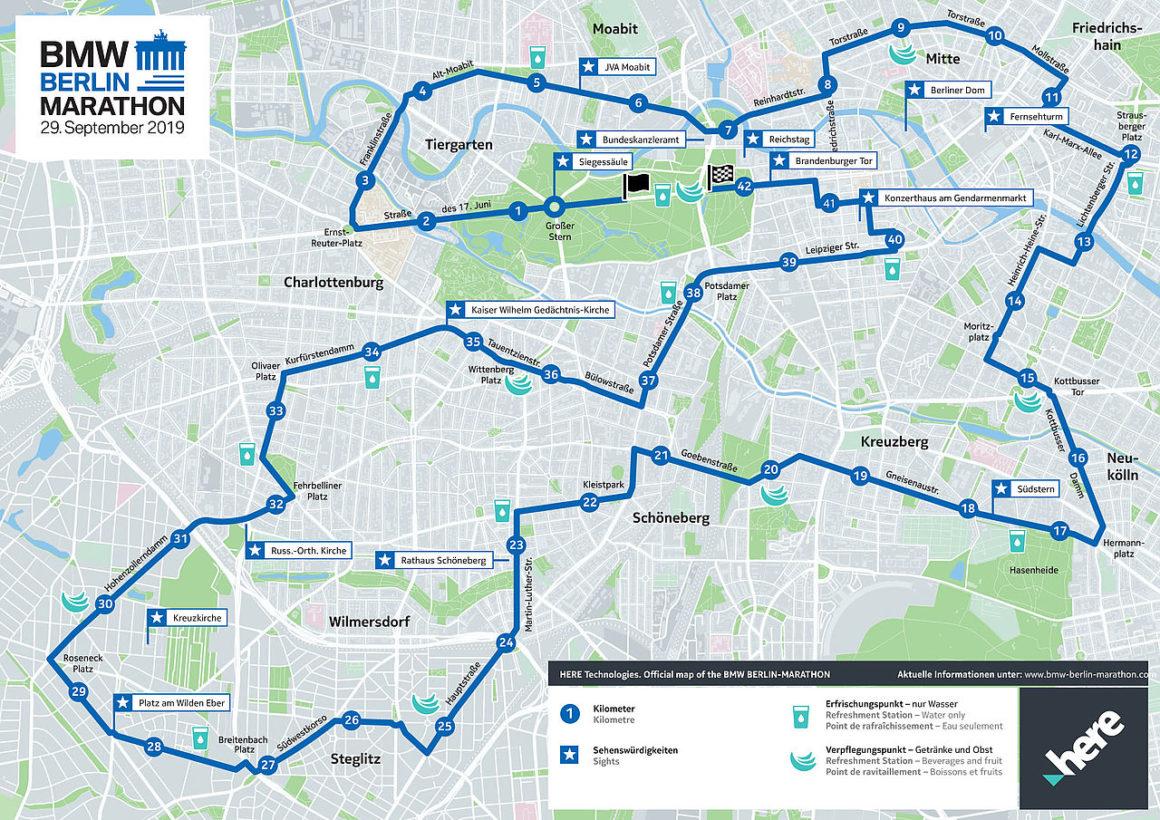 Maratón de Berlín maratón de berlín - maraton de berlin marathon course recorrido thewotme 1160x820 - Correr el Maratón de Berlín: Análisis, recorrido, entrenamiento e inscripciones